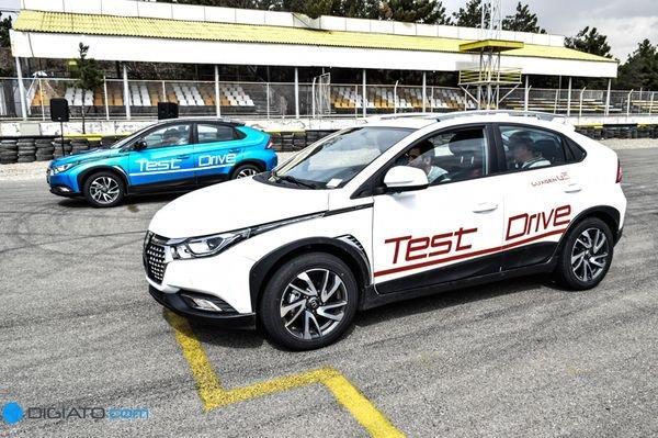 تایوانی ها در تهران؛ اولین آزمایش رانندگی با خودروهای لوکسژن در پیست آزادی