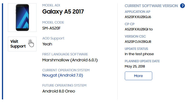 The rest of the Samsung devices scheduled for the Android 8.0 update2 - آپدیت اندروید اوریو چه زمانی برای گلکسی نوت 8 عرضه می شود؟