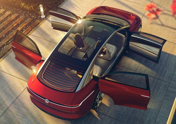 Volkswagen ID Vizzion Concept 2018 7 اولین سدان برقی فولکس واگن با برد حرکتی 700 کیلومتر راهی بازار خواهد شد اخبار IT