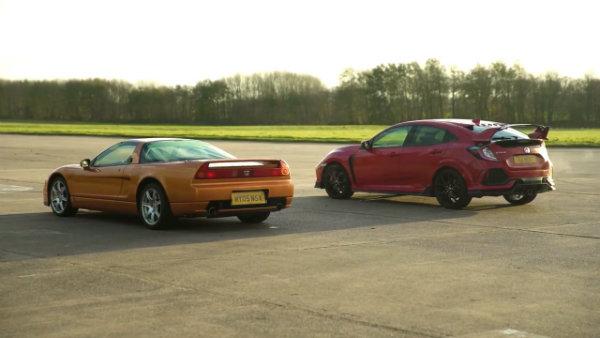 Honda Civic Type R vs Old NSX –DRAG RACE, ROLLING RACE (4)