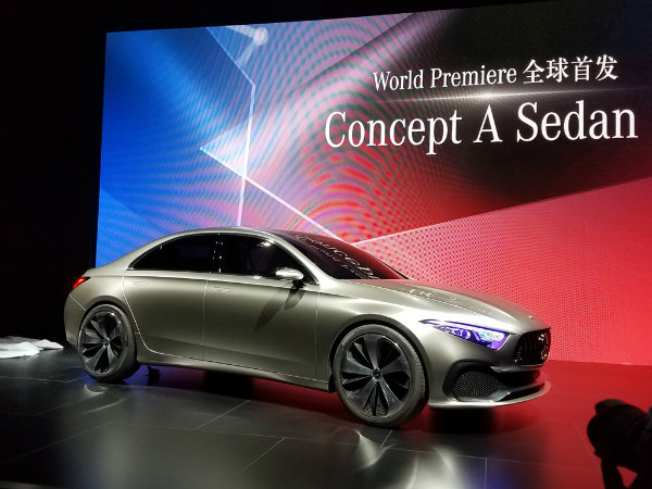 Mercedes-Concept-A-Saloon-front-three-quarter-unveiled