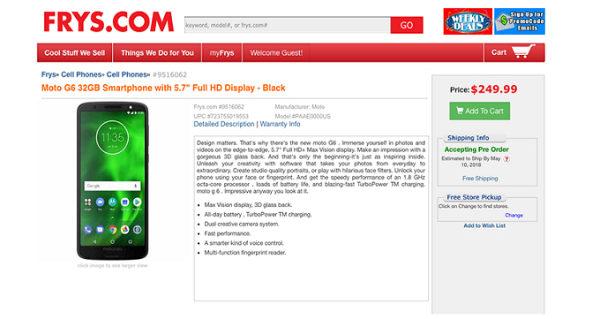 Moto G6 و Moto G6 Play موبایل موتورولا