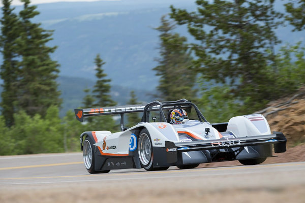 Rhys Millen with eO PP03 by Drive eO at Pikes Peak
