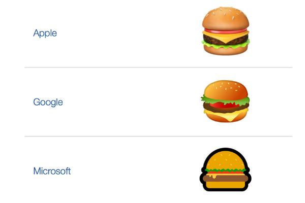 اموجی چیزبرگر گوگل