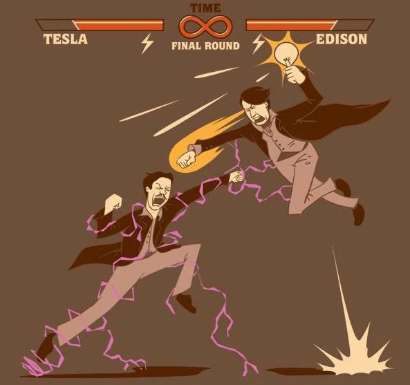 تسلا و ادیسون