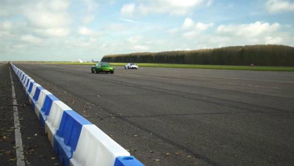 Honda (Acura) NSX vs Mercedes-AMG GT R –DRAG RACE, ROLLING RACE (6)
