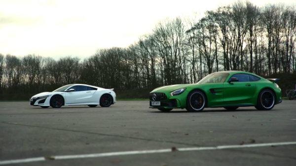 Honda (Acura) NSX vs Mercedes-AMG GT R –DRAG RACE, ROLLING RACE (9)