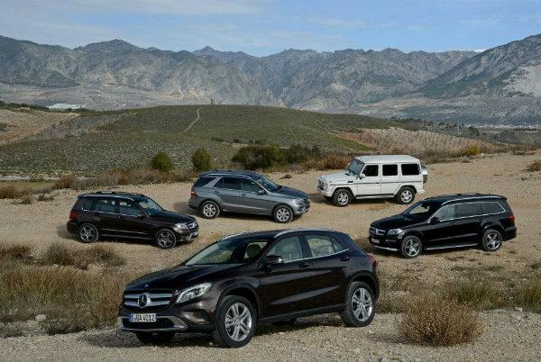 Mercedes-Benz SUV lineup