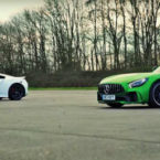 دوئل آلمانی ژاپنی؛ مسابقه درگ جذاب مرسدس AMG GT R با هوندا NSX [تماشا کنید]