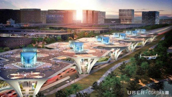 طرح های هیجان انگیز اوبر برای ایستگاه تاکسی های هوایی