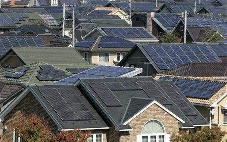 ایالت کالیفرنیا پنل های خورشیدی خانه های جدید