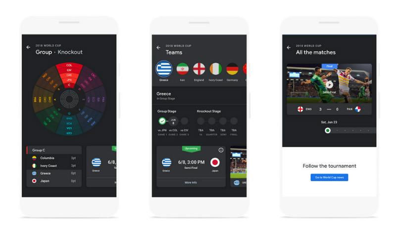 به روزرسانی های گوگل برای جام جهانی 2018