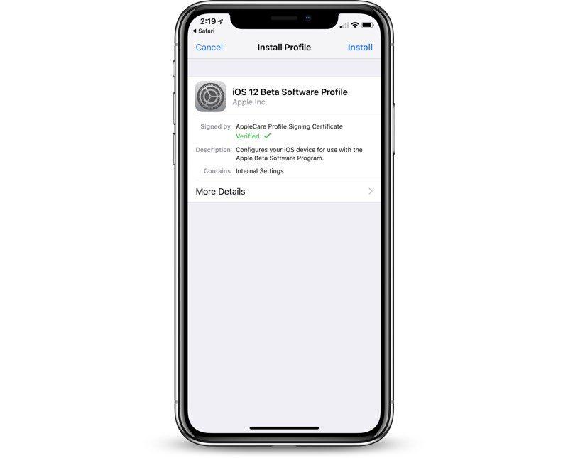 بتای عمومی iOS 12