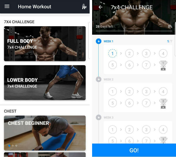 اپلیکیشن Home Workout