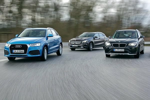 2015 Audi Q3 vs 2015 BMW X1 vs 2015 Mercedes GLA