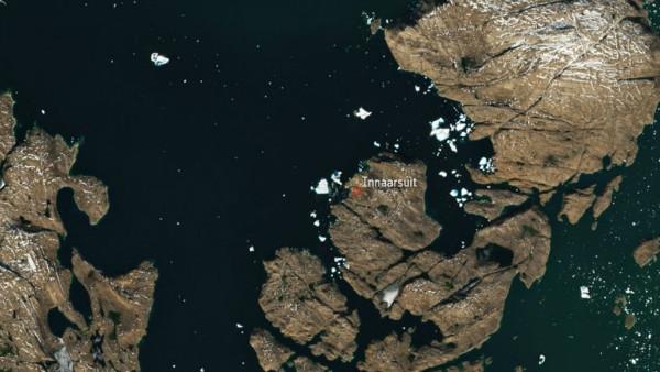 کوه یخ گرینلند در تصاویر ماهواره ای