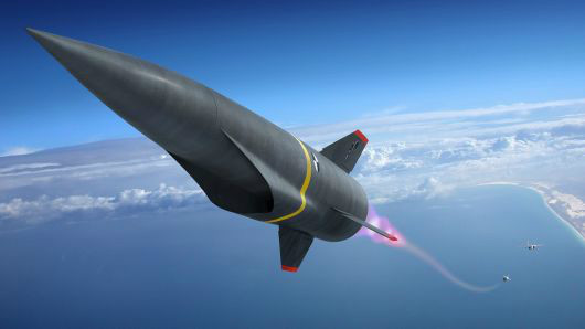 تصویری مفهومی از یک موشک ابر صوتی