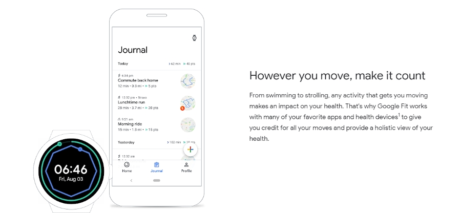 نسخه جدید اپلیکیشن Google Fit
