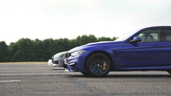 BMW M3 CS vs Audi RS4 - review & DRAG RACE, ROLLING RACE & BRAKE TEST 3