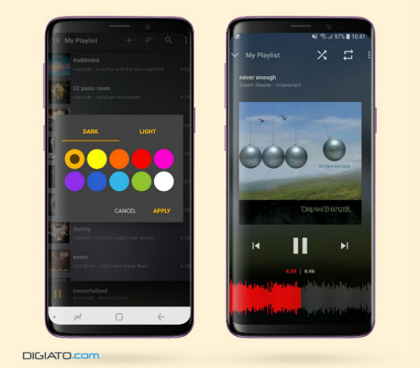 Digiato Two Phones w600 - معرفی اپلیکیشن Music Player Mezzo؛ شنیدنی و حتی دیدنی