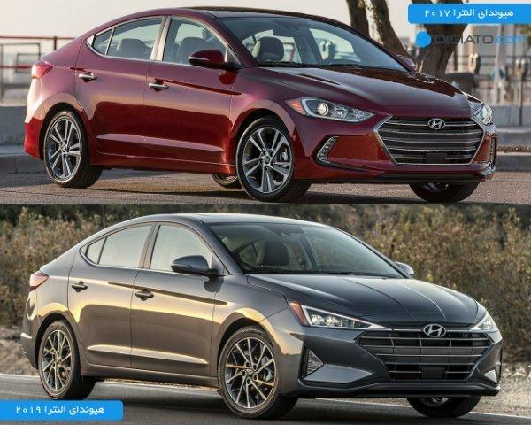 Hyundai Elantra 2019 vs 2017