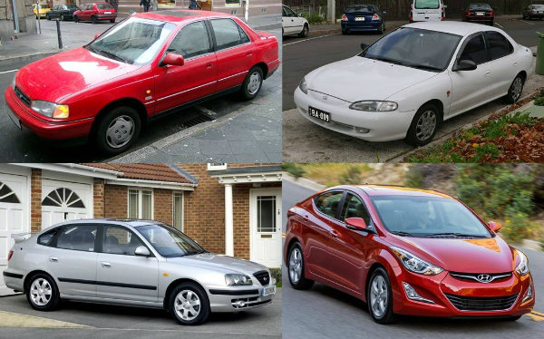 Hyundai-Elantra-different-generation-models