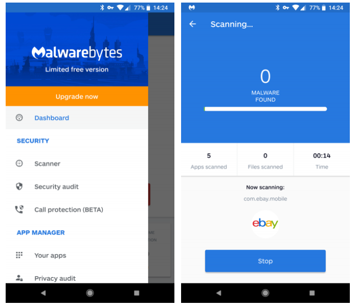MalwareBytes 1 چگونه بدون بازگشت به تنظیمات کارخانه بدافزارهای اندروید را پاک کنیم؟ اخبار IT