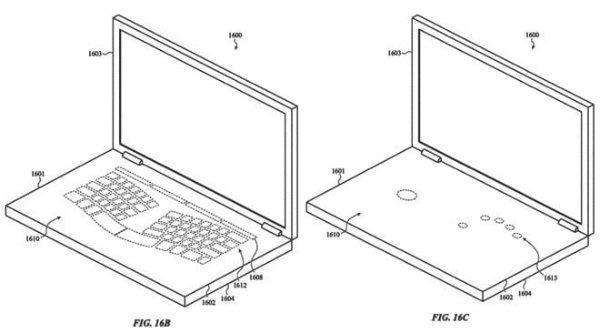 apple glass keyboard patent 720x720 پتنت های جدید اپل برای رفع مشکل کیبورد مک بوک پرو اخبار IT