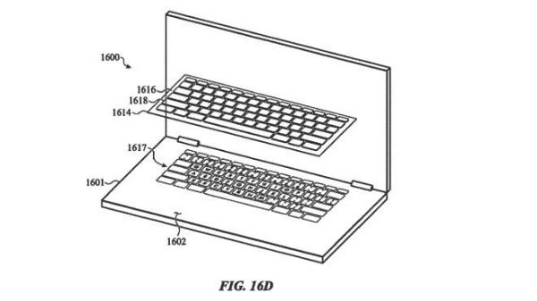apple keyboard overlay patent 720x720 پتنت های جدید اپل برای رفع مشکل کیبورد مک بوک پرو اخبار IT