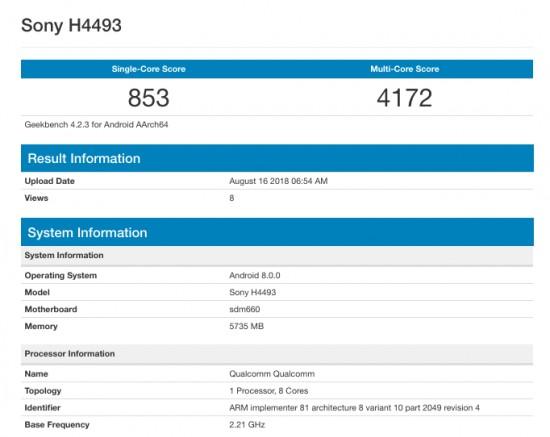 gsmarena 002 5 - بنچمارک منتسب به اکسپریا XA3 در گیک بنچ ثبت شد