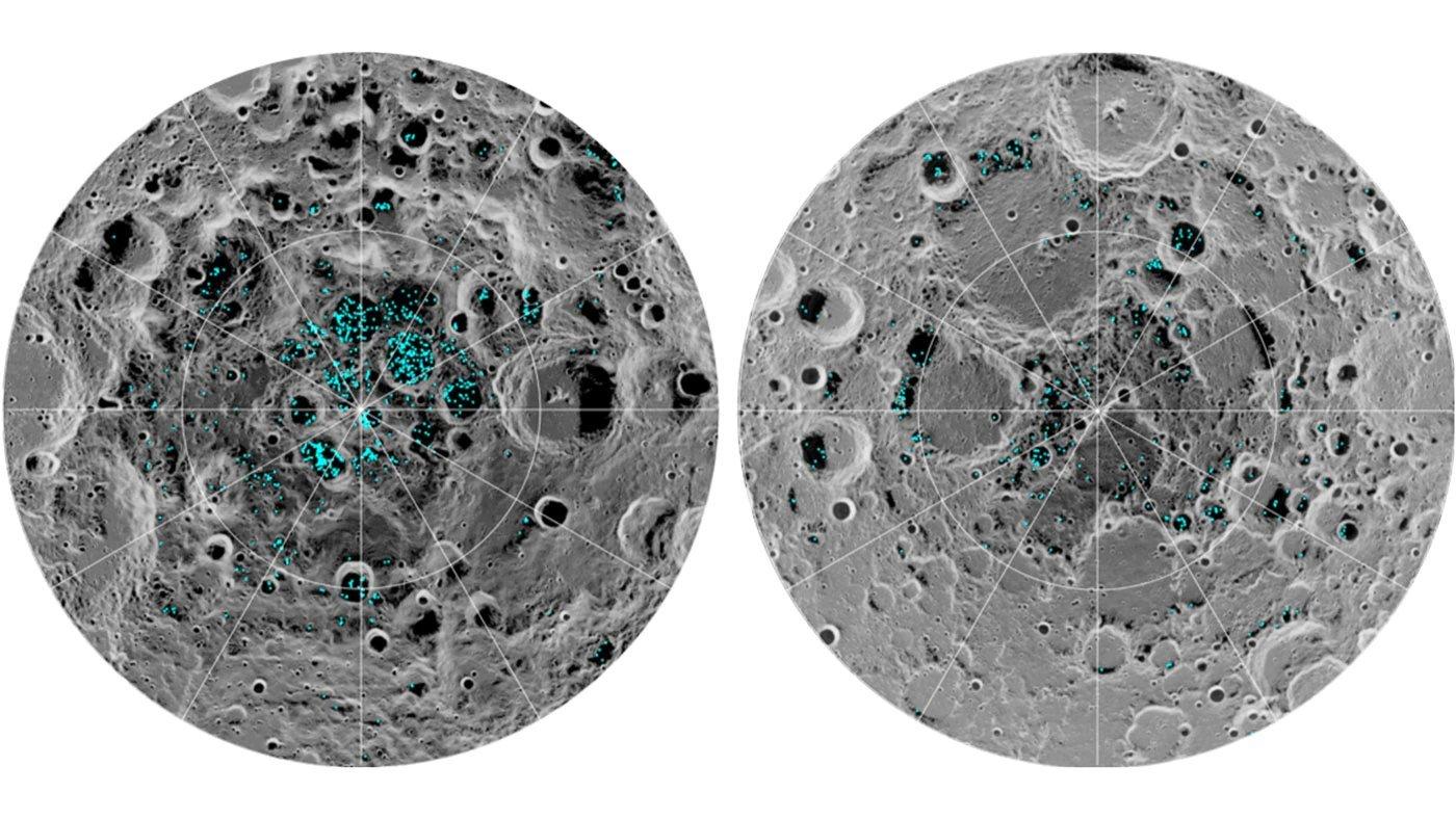 قطب های ماه