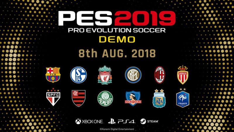 دمو PES 2019 را رایگان دانلود و بازی کنید