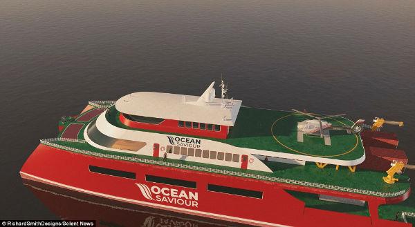 این کشتی 52 میلیون دلاری روزانه 5 تن پلاستیک اقیانوس را بازیافت خواهد کرد