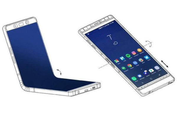 Here are the two screen sizes of Samsungs foldable Galaxy F w600 - قابلیتهای جدید موبایل تاشوی سامسونگ فردا معرفی میشوند