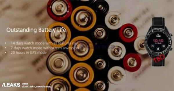 Huawei Watch GT battery leak 600x316 - مشخصات کاملی از هواوی واچ GT منتشر شد