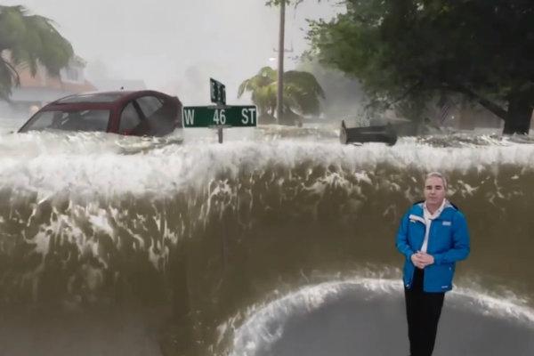Hurricane Florence 1 - استفاده از واقعیت ترکیبی برای نمایش قدرت طوفان فلورنس [تماشا کنید]