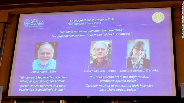 نوبل فیزیک ۲۰۱۸
