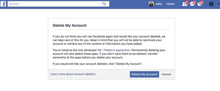 غیرفعال کردن حساب شبکه های اجتماعی