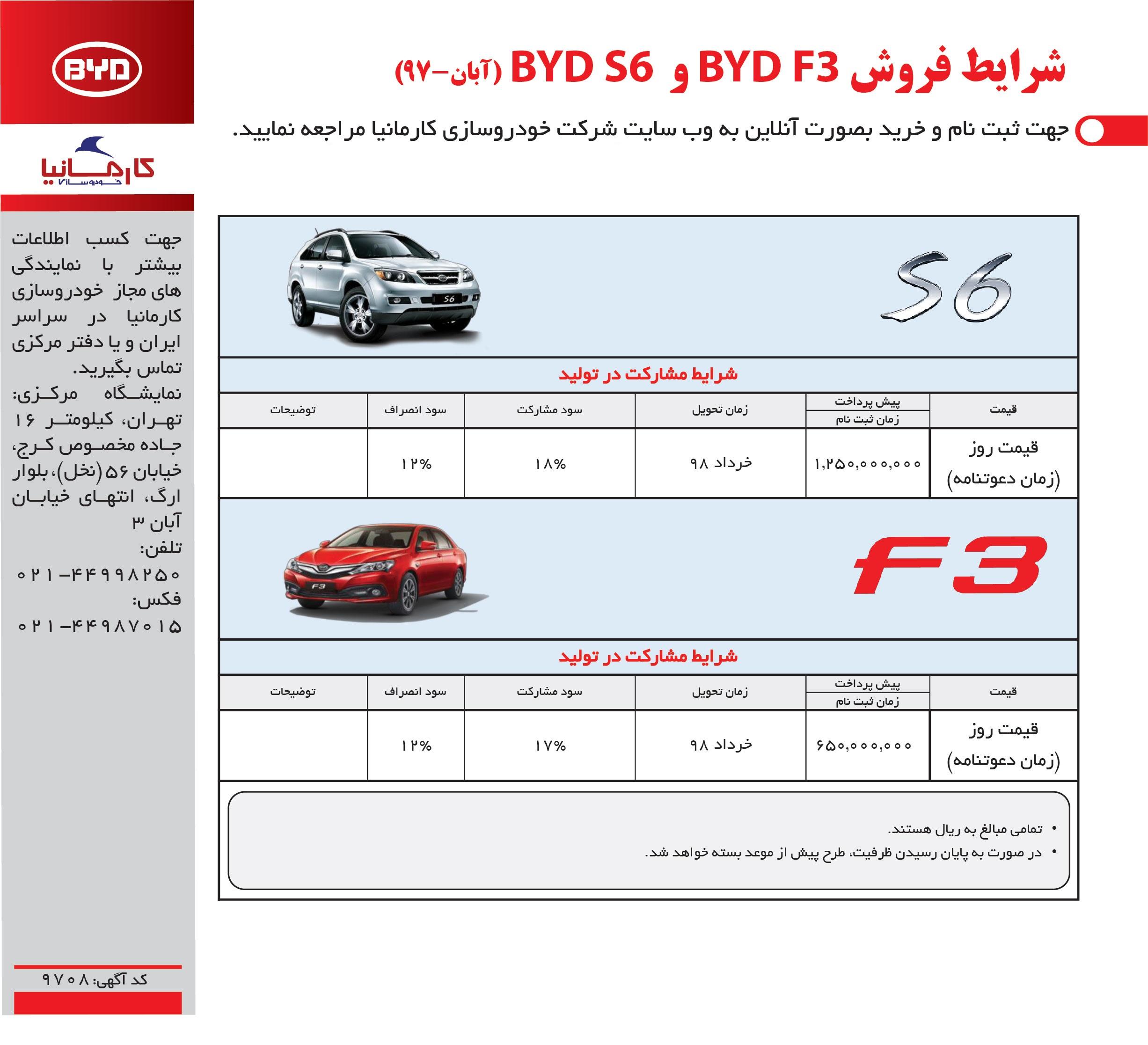 فروش BYD S6