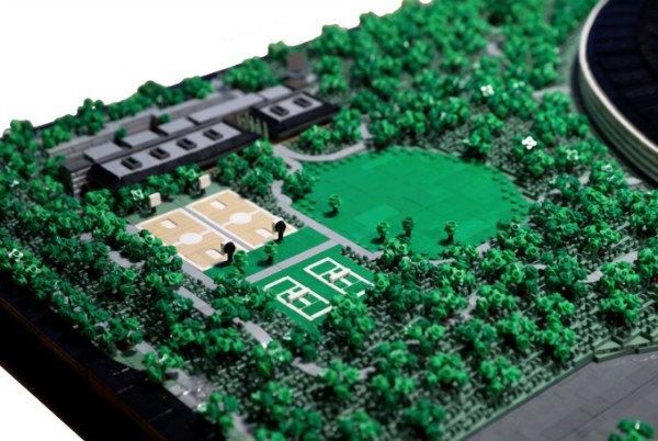 بازسازی مقر اپل پارک با 85 هزار قطعه لگو