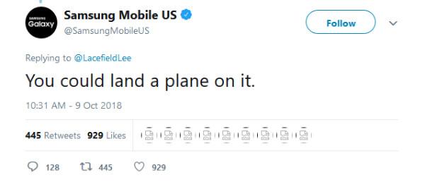 وقتی سامسونگ بریدگی نمایشگر گوگل پیکسل 3 را در توییتر به سخره میگیرد