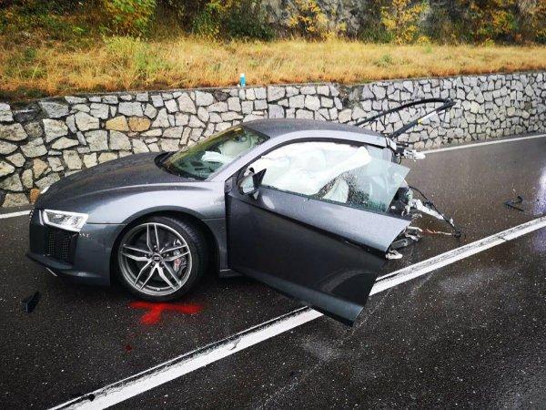 وقتی خودروی خوب رانندگی بد را توجیه نمی کند؛ نصف شدن آئودی R8 در تصادف