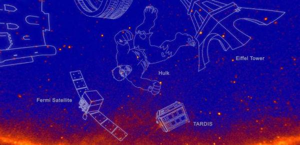 ناسا صور فلکی جدید را هالک و گودزیلا نامید
