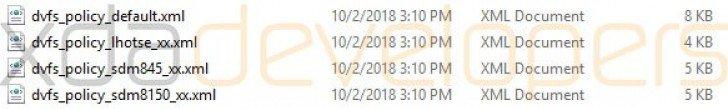 اشاره به چیپست اسنپدراگون 8150 در فایل های اندروید 9 پای