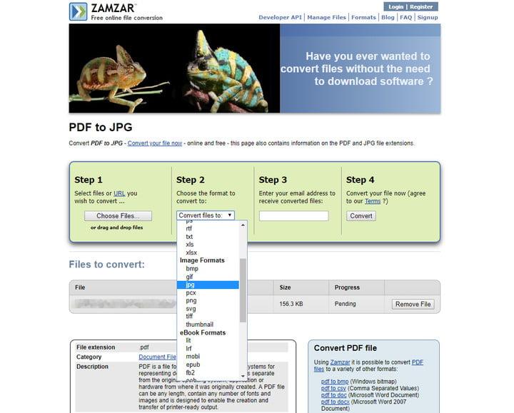 تبدیل PDF به JPG