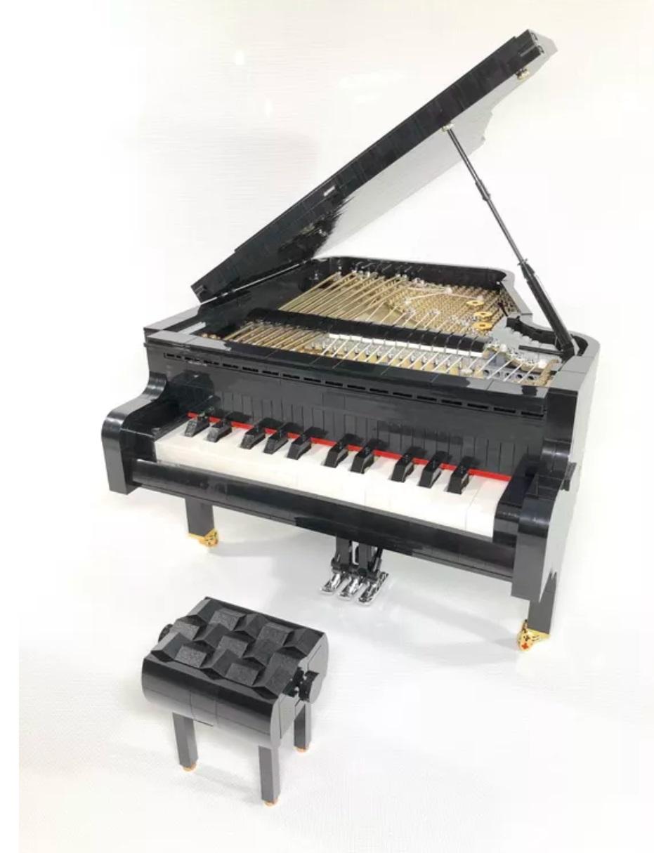 این پیانوی اسباب بازی که با قطعات لگو ساخته شده، میتواند بنوازد [تماشا کنید]