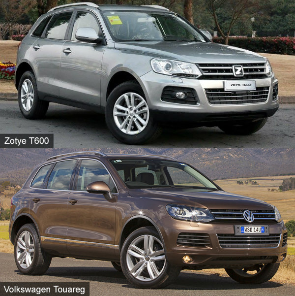 Zotye T600 vs VW Touareg