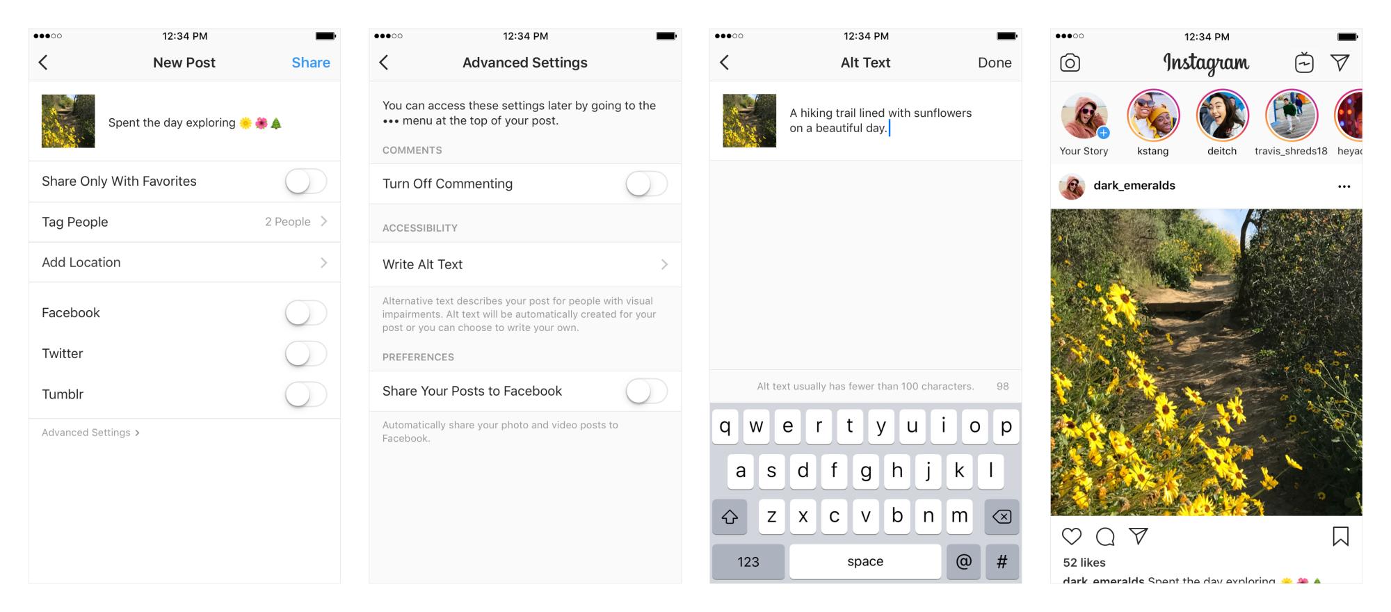 اینستاگرام ویژگی جدید شرح تصویر رابرای کاربران کم بینا اضافه میکند