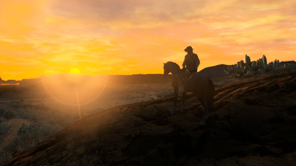 red dead redemption marston horseback sunset 1280 - لطفا Red Dead Redemption را زود تمام نکنید