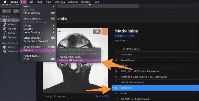 تبدیل آهنگ های آیتونز به MP3